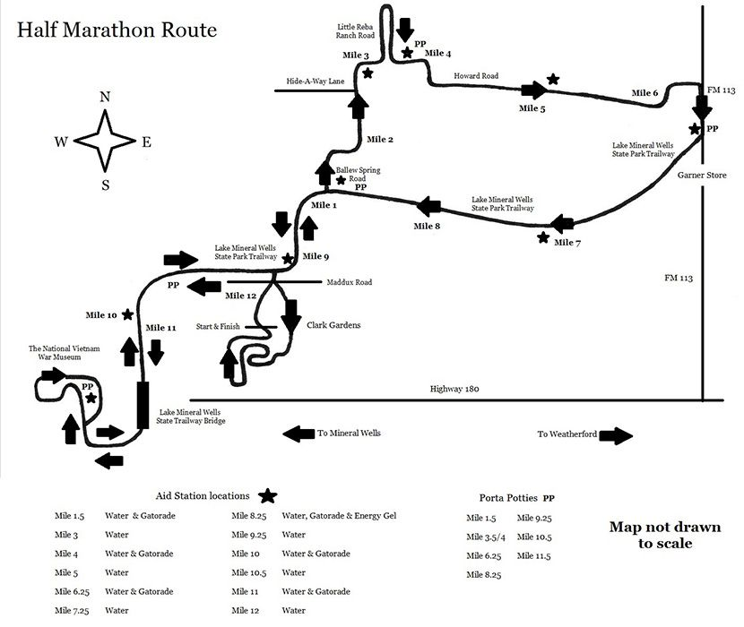 course map half marathon 5k