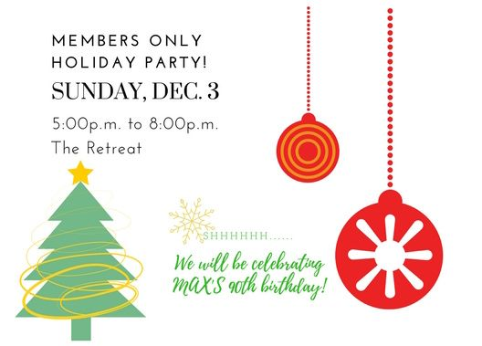 Members Only Holiday Party December 3 2017