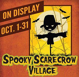 spooky scarecrow village