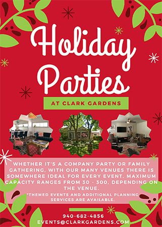 Host Your Holiday Party at Clark Gardens