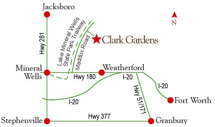 Clark Gardens Directions Map