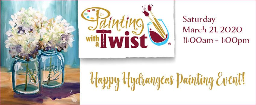 painting with a twist march 21st 2020 at Clark Gardens
