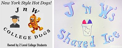 J 'n W's College Dogs and Shaved Ice