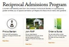 Reciprocal Garden Admissions Program
